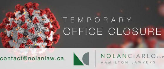 COVID-19: Temporary office closure